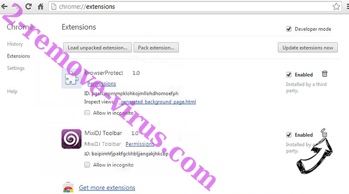 Mobsuite.site Chrome extensions remove