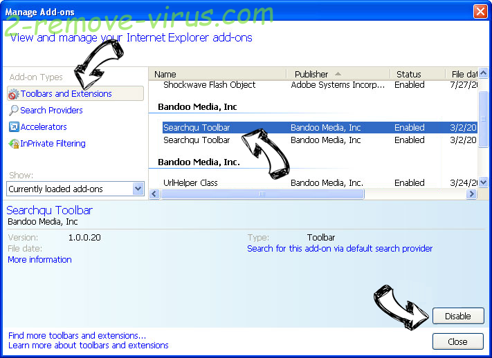 Search.hidemysearch.com IE toolbars and extensions