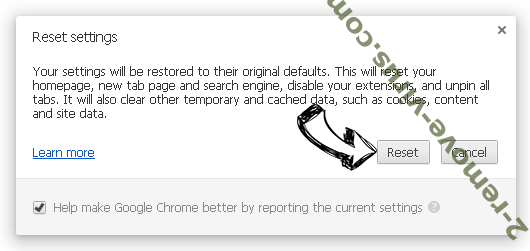 Searchinspired.com virus Chrome reset