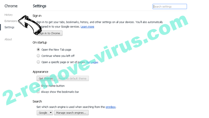 Searchinspired.com virus Chrome settings