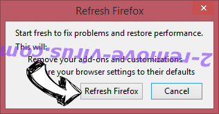 Searchinspired.com virus Firefox reset confirm