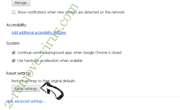 musicNow Home adware Chrome advanced menu