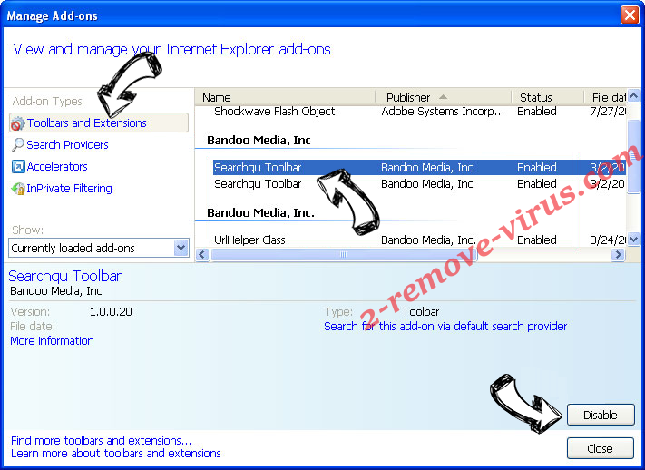 BountySearch virus IE toolbars and extensions