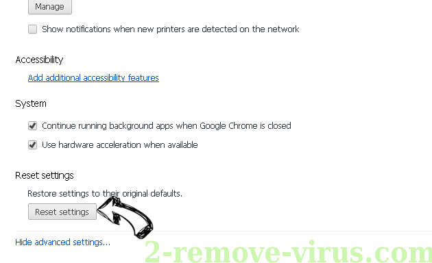Easy Speed Tracker Virus Chrome advanced menu