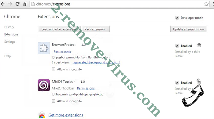 Easy Speed Tracker Virus Chrome extensions remove