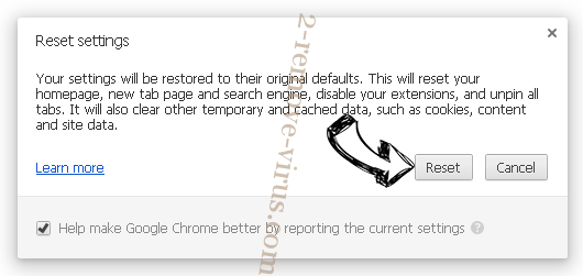 ClearWebSearch.com Chrome reset