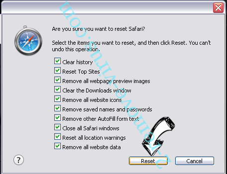 Easy Speed Tracker Virus Safari reset