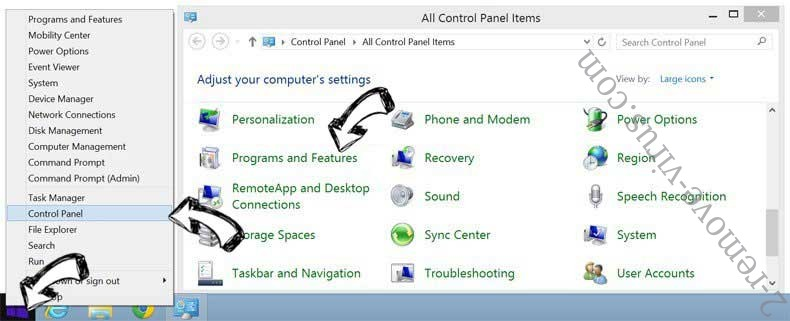 Delete MetroWhiz Toolbar from Windows 8