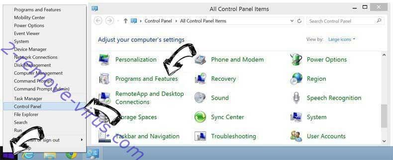 Delete Photor Chrome New Tab from Windows 8
