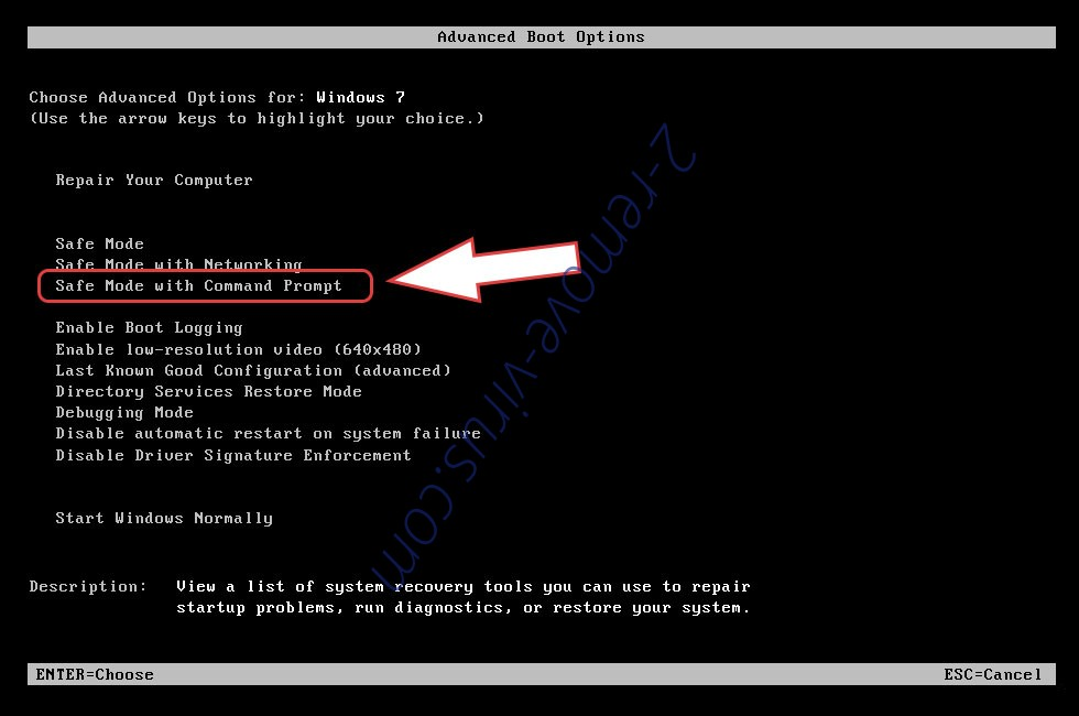 Remove LockCrypt Ransomware entfernen - boot options