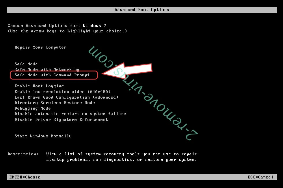 Remove cbs0z ransomware - boot options