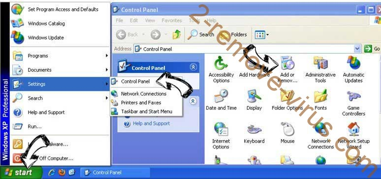 Remove ClearWebSearch.com from Windows XP