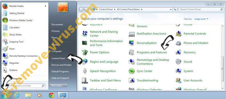 Uninstall Easy Speed Tracker Virus from Windows 7