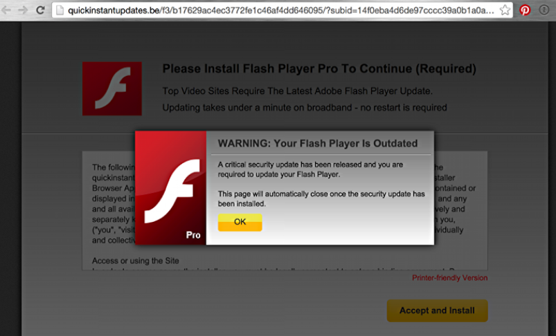 Flash Player Update Scam