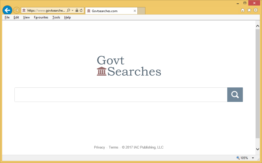 Como borrar la redirección Govtsearches.com