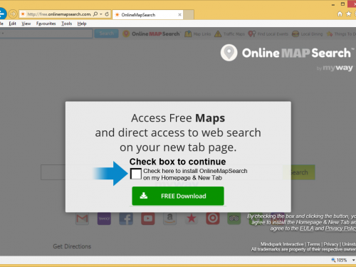 Remove OnlineMapSearch Toolbar