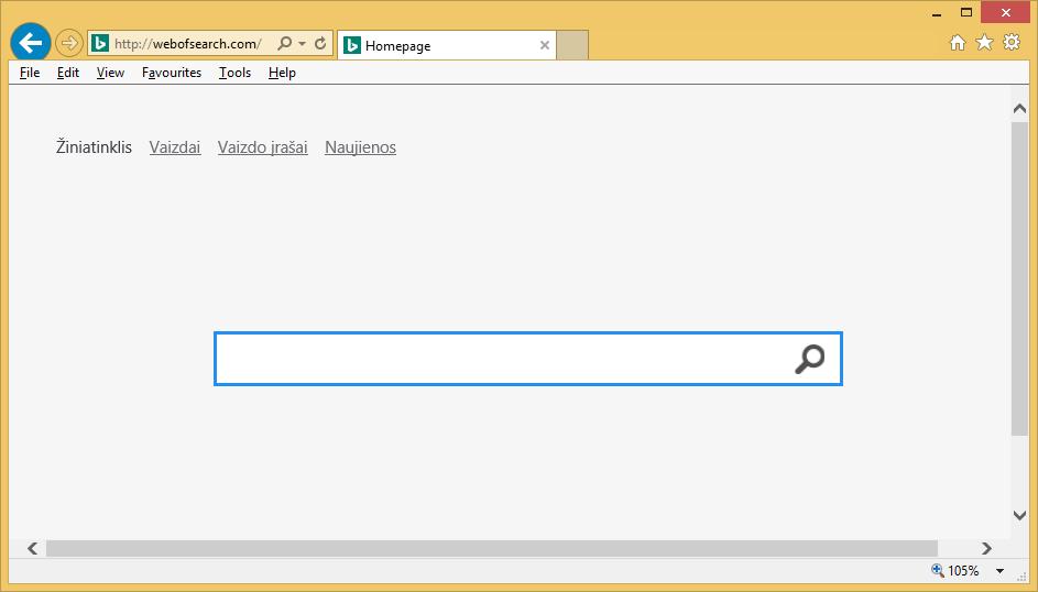 Webofsearch.com – hvordan man fjerner?