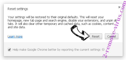 YOCOURSENEWS.INFO Redirect Chrome reset