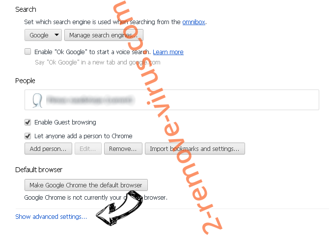 Safewebsearches.com Chrome settings more