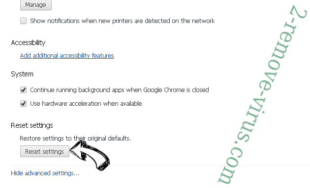SecuryBrowse Protection Chrome advanced menu