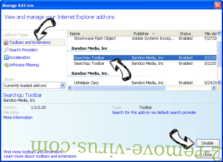SecuryBrowse Protection IE toolbars and extensions