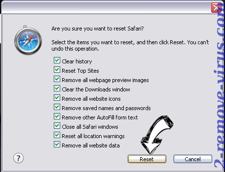 SecuryBrowse Protection Safari reset