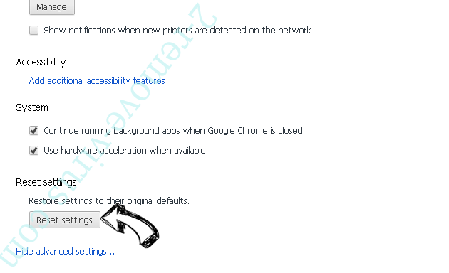 FormFetcherPro Browser Hijacker Chrome advanced menu