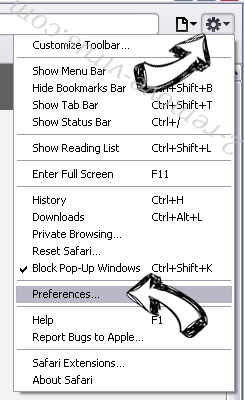 FormFetcherPro Browser Hijacker Safari menu
