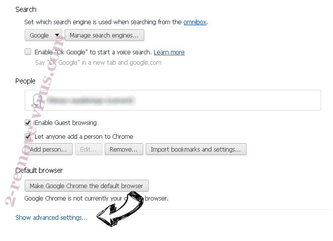 Search8.com.au Chrome settings more