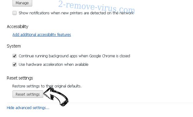 MobiDash Chrome advanced menu