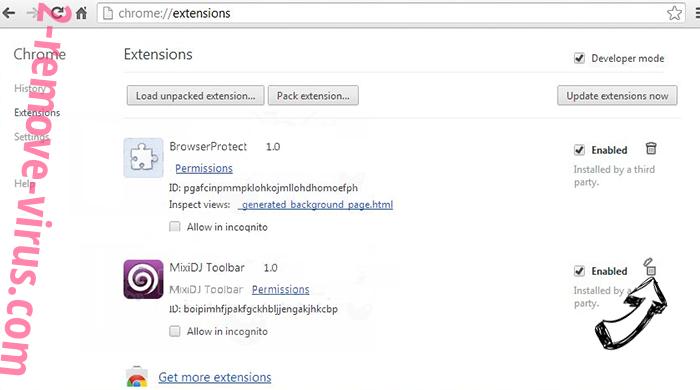 MobiDash Chrome extensions remove
