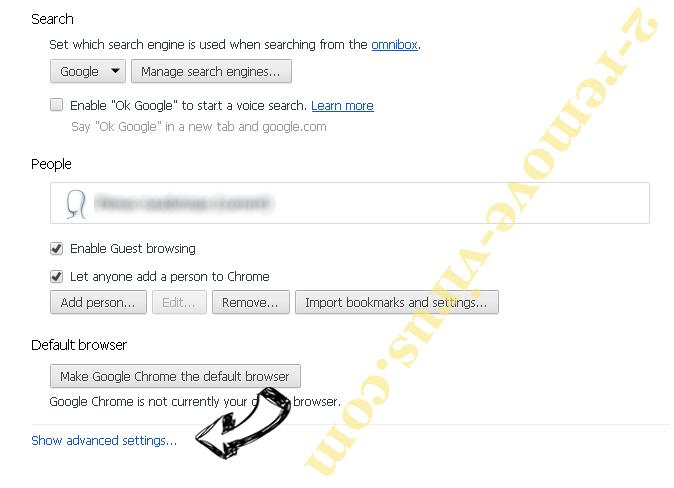 MobiDash Chrome settings more