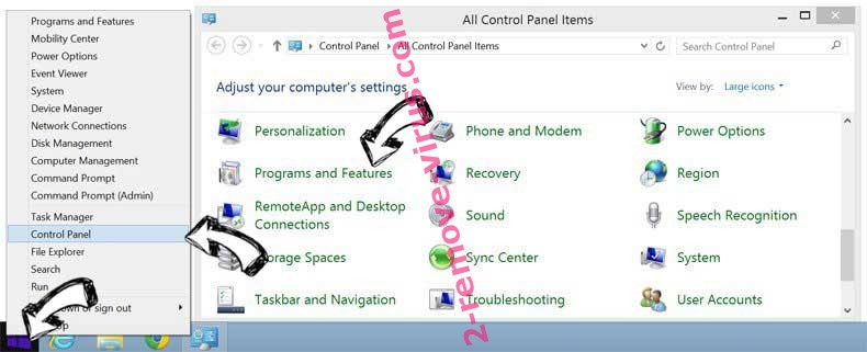 Delete SupportFreeContent Search from Windows 8