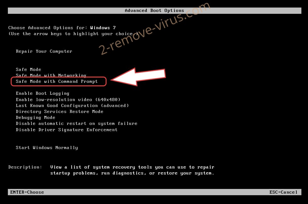 Remove .CROWN file virus - boot options