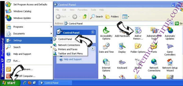 Remove Directions Mapper Toolbar from Windows XP