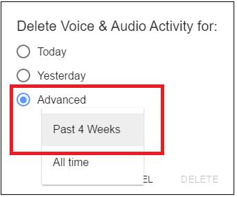 Delete Voice and Audio Activity