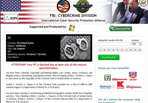 FBI Cybercrime Division virus Removal