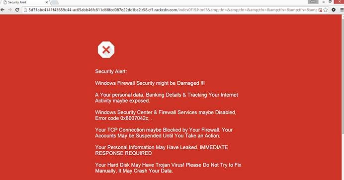 Fake Google Security Warning