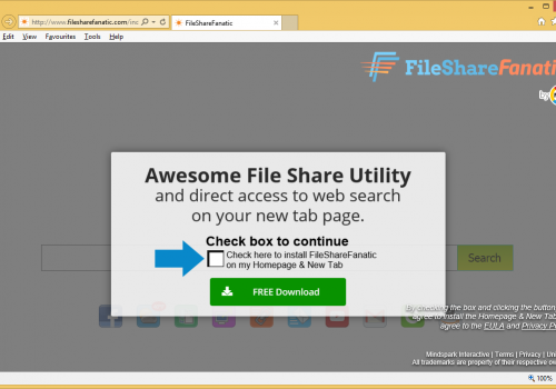 Rimuovere FileShareFanatic Toolbar