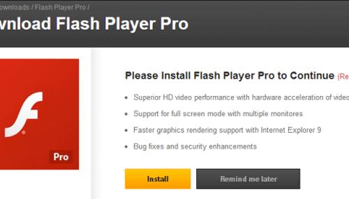 Remove Flash Player Pro virus