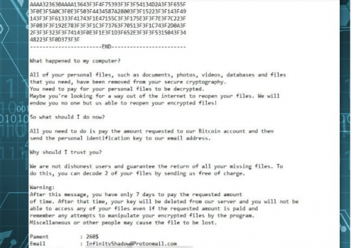 Remove InfinityShadow ransomware virus