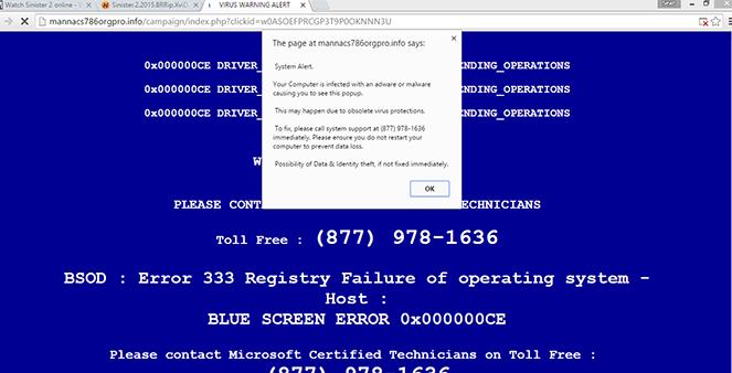 Microsoft Critical Alert Virus