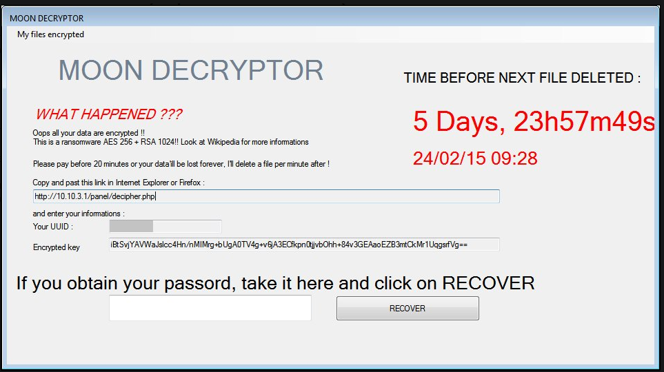 Удаление MoonCryptor virus