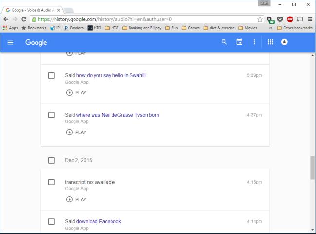 Ok Google history