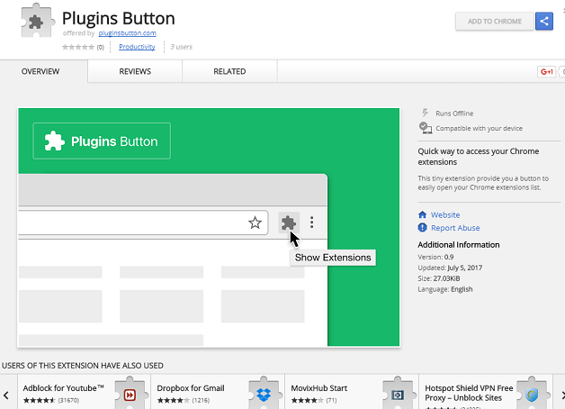 Plugins Button Extension