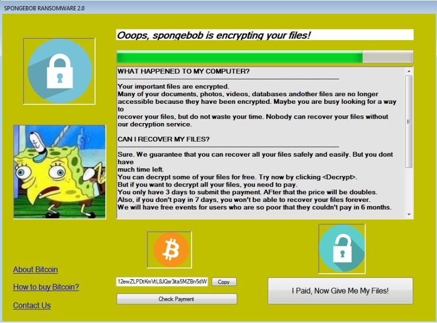 Spongebob 2.0 Ransomware