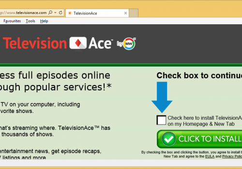 TelevisionAce Toolbar Removal