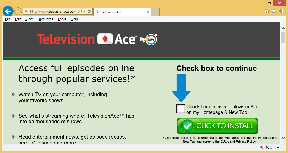 TelevisionAce Toolbar