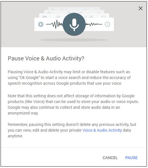 Voice press Pause
