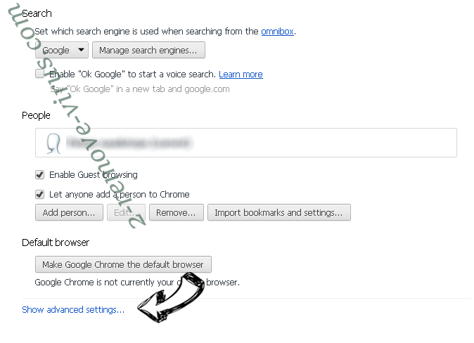 Ezy-search.com Chrome settings more